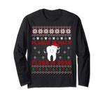 Dentist Plaque Wack Floss Boss Ugly Christmas Long Sleeve