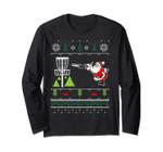 Ugly Disc Golf Santa Christmas Sweater Long Sleeve Tee