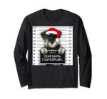 Xmas Miniature Schnauzer Santa Hat Dog Christmas Long Sleeve