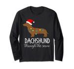 Dachshund Through The Snow Christmas Lights Long Sleeve Shir