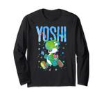 Nintendo Super Mario Yoshi Watercolor Splash Long Sleeve Tee