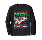 Nasa Santa Rocket Ugly Christmas Sweater Long Sleeve Tee