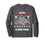 Truck Driver Merry Christmas Ugly Sweater Long Sleeve Gift