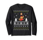 Super Mario Snow Level Ugly Christmas Long Sleeve Tee