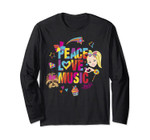Jojo Siwa Peace Love Music Rainbow Sticker Long Sleeve