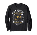 62 Years Old Made In 1957 62nd Birthday Gift Long Sleeve