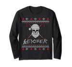 Sleigher Ugly Christmas Metal Santa Long Sleeve