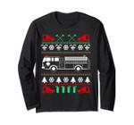 Firefighter Ugly Christmas Sweater - Fireman Long Sleeve