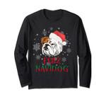Long Sleeve English Bulldog Feliz Navidog Christmas