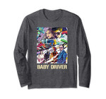Baby Driver Vertical Illustrated Movie Poster Long Sleeve