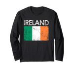 Vintage Ireland Irish Flag Pride Long Sleeve