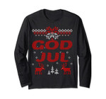 God Jul Norwegian & Swedish Merry Christmas Gift Long Sleeve