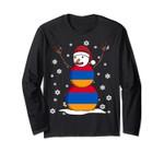 Armenian Christmas Gift Armenia Flag Snowman Long Sleeve