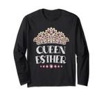 Queen Esther Jewish Purim Costume Humorous Long Sleeve Tee