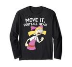 Hey Arnold Helga Move It Football Head Long Sleeve