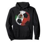 Mexico Soccer Ball Flag Jersey Hood - Mexican Football Gift