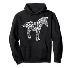 Cute Zebra Strong Ehlers Danlos Syndrome Awareness Hood Gift