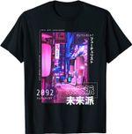 Japanese Cyberpunk Tokyo Streetwear Aesthetic Graphic Tee