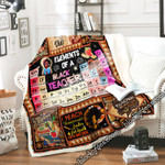 Elements Of A Black Teacher Sofa Throw Blanket