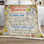 To My Grandson, Nana Sofa Throw Blanket NH118SC