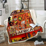 Africa forever in my heart Sofa Throw Blanket TH484