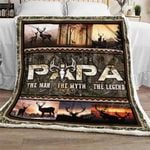 Papa - Hunting Sofa Throw Blanket