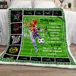 Soccer - My Love, My Passion Sofa Throw Blanket NH7