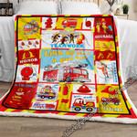 Little Fireman. Sofa Throw Blanket NKP262a