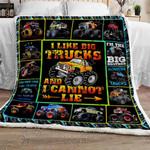 Monster Truck Sofa Throw Blanket NH107