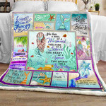 A Soul Of A Mermaid Sofa Throw Blanket