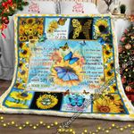 Butterfly And Sunflower Sofa Throw Blanket