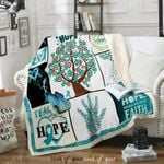 Fight Ovarian Cancer With Hope Sofa Throw Blanket D248