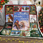 Merry Christmas Horse Sofa Throw Blanket