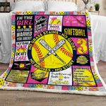 Live Love Softball Sofa Throw Blanket