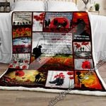 We Will Remember Them Remembrance Poppy Sofa Throw Blanket