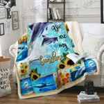 You Are My Sunshine Dolphin Sofa Throw Blanket P218