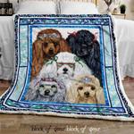 Poodles Sofa Throw Blanket DK473