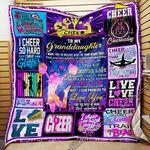 Cheerleading. To My Granddaughter. Quilt Blanket