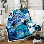 In A World Full Of Fish, Be A Shark Sofa Throw Blanket DNL1612