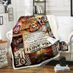 My Wife, Love You Forever & Always Biker Sofa Throw Blanket