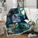 Poseidon Sofa Throw Blanket S359