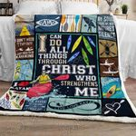 Kayakers - I Can Do All Things Through Christ Who STrengthens Me Sofa Throw Blanket NP308