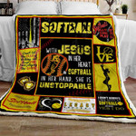 Softball With Jesus Sofa Throw Blanket THL937