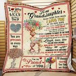 To My Granddaughter Quilt Blanket THN1894