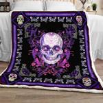 Purple Skull Sofa Throw Blanket