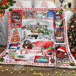 Have Yourself A Hippie Little Christmas, Hippie Bus Sofa Throw Blanket
