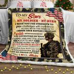 My Soldier - My Hero, Love, Mom Sofa Throw Blanket
