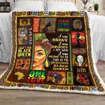Strong Black Queen Sofa Throw Blanket