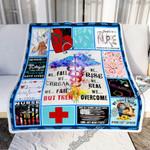 Nurse. We Rise, We Heal, We Overcome Sofa Throw Blanket