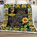 Grandma To Granddaughter - Believe In Yourself Sofa Throw Blanket SHB007